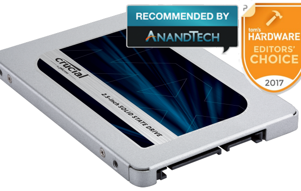 Crucial SSD CT1000MX500SSD1 MX500 2.5-inch 1TB SATA  7mm with 9.5mm adapter